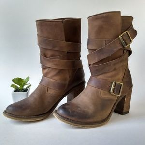 Jeffrey Campbell France Wrap Strap Boots Size 7.5